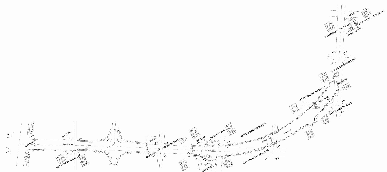 街道路线稿手绘