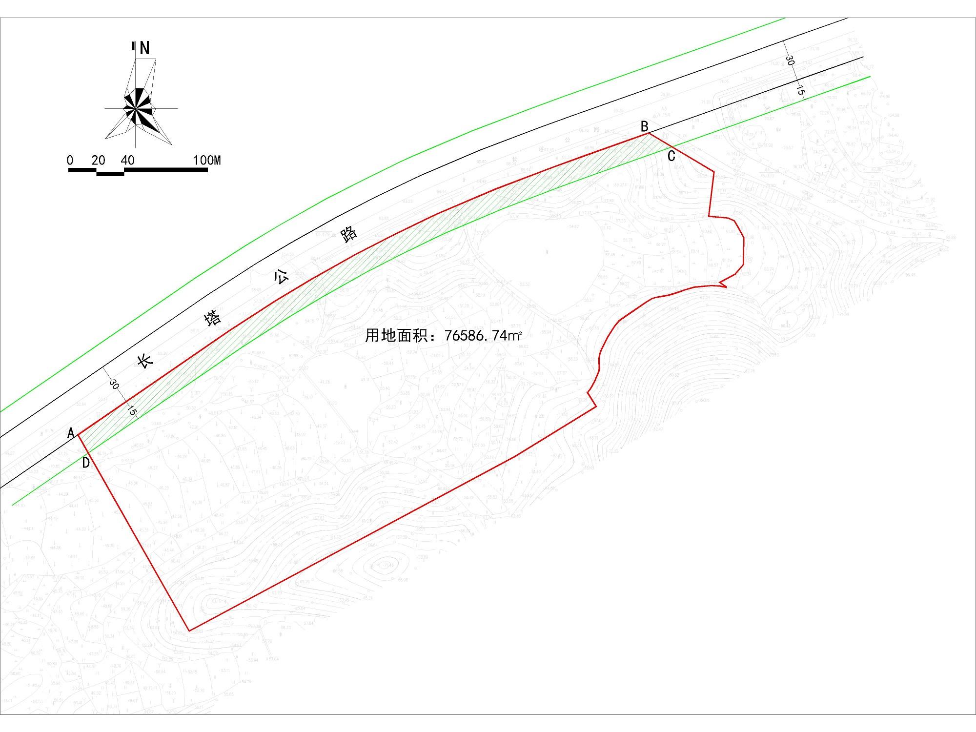 关于木兰山风景区入口服务区建设工程(综合服务区及停车场)一期(地块