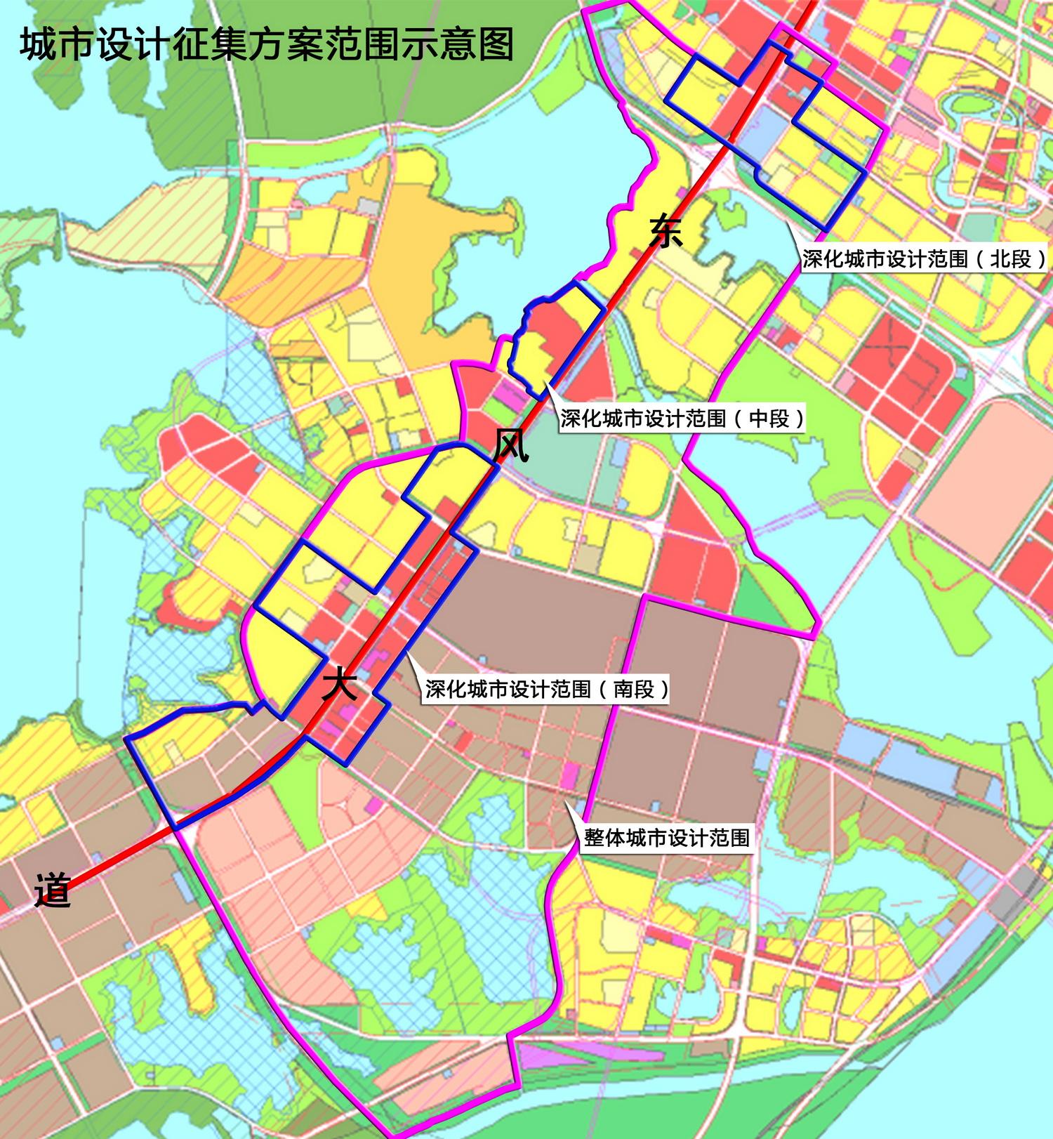 东风大道是318国道位于武汉经济技术开发区(汉南区)(以下简称经开区)范围内的路段,是经开区内部各功能组团联系和联系主城区、蔡甸区及仙桃、潜江的一条重要的城市干道,是武汉市城市西南向发展重要的拓展轴,沿线聚集有武汉体育中心、市民服务中心、东风汽车公司总部、东风汽车有限公司总部、神龙汽车公司总部、湖北武汉出口加工区等重要的功能区,与之相交的道路有武汉市三环线、四环线、外环线、车城环路、沌阳大道等城市主干(快速、高速)路,周边紧临南太子湖、北太子湖、三角湖等景观资源。随着2016年10月东风大道高架全线通车