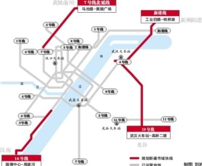 武汉四条地铁将建成市域快线 提速一倍满足外扩需要