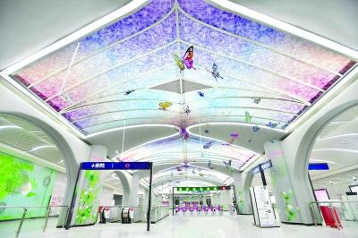 从佛祖岭站可直达天河机场 地铁2号线南延线 三大特色站亮相